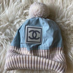 Authentic Vintage Chanel sport ski winter hat